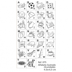 Carimbos Alfabeto Ilustrado
