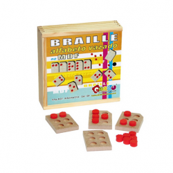 Braille Alfabeto Vazado em MDF