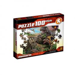 Puzzle 100 Peças Dinossauros