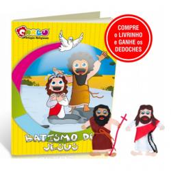 Livro com Dedoches Batismo de Jesus