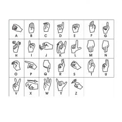 Carimbos Alfabeto em Libras