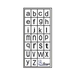 Carimbos Letras Minúsculas de Forma