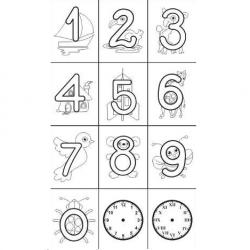 Carimbos Números Ilustrados