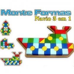 Monte Formas Navio 3 em 1
