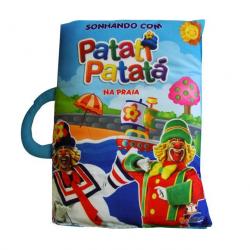 Livro Travesseiro Patati Patatá - Na Praia