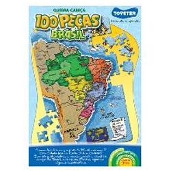 Quebra-Cabeça Brasil 100 peças