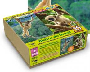 Quebra-Cabeça Bichos do Brasil - Muriqui