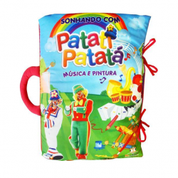 Livro Travesseiro Patati Patatá - Música e Pintura